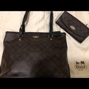 Authentic Coach Bag/Wallet Set
